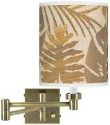 Tropical Woodwork Antique Brass Swing Arm Wall Lamp