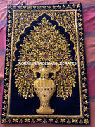 Gold Zari Embroidered Modern And Home Office Wall Jewel Hanging Panel Decor M117