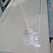 4and039x2and039 White Marble Top Dining Table Design Inlay Handmade Furniture Decor E951