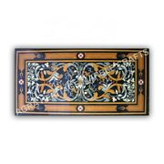 4and039x2and039 Modern Marble Top Dining Table Pietra Dura Inlay Hallway Garden Decor E989