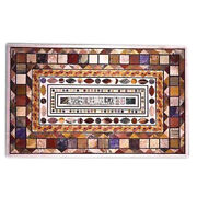 Exclusive Marble Living Table Multi Mosaic Inlay Stones Occasional Decor H3948