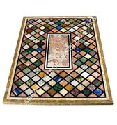 Interior Decorative Mosaic Multi Elegant Inlay Home Dining Marble Table Top E621