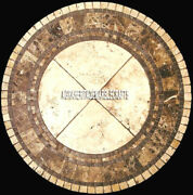48 Coffee Round Marble Table Top Handmade Inlay Arts Furniture Home Decor