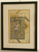 Mughal Miniature Painting Of King Queen Romance Handmade Finest Artwork On Paper