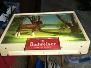 Vintage Budweiser Electric Lighted Sign W/clydesdale Horse, King Of Beers 14x20