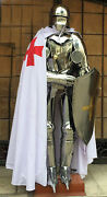 German Gothic Suit Of Armor Collectible Wearable Larp/reenactment Costume