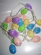 Easter Egg String Lights 3 Sets And Carrot Light Covers Electric 10 Eggs A Strand