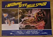 Rare The Magnificent 7 In Space Set Of 8 Small Italian Movie Posters 18 X 13