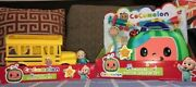Cocomelon Official Musical Checkup Case And Yellow School Bus Jj Bundle New