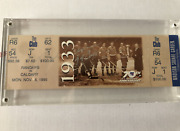 Mark Messier 500th Goal Autographed Ticket New York Rangers Flames 11/06/2005