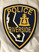 Riverside Police Dept Rpd California Custom Carved Wood 3d Patch Plaque 11x15andrdquo