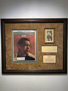 Joe Louis Framed Sports Illustrated Magazine, Vintage Photo, And Autograph