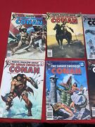 The Savage Sword Of Conan The Barbarian Comic Lot Of 7.. 74-80. Storage Find