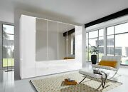 Luxury German 1m To 4m Wardrobe Bedroom Furniture Grey White Gloss Fitted Free