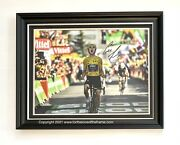 Geraint Thomas Stunning Hand Signed Cycling Tour De France Luxury Photo Display