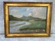 Lance Roy Lauffer Landscape Painting O/c Mountain Landscape With River Signed