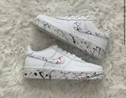 Custom Painted Nike Air Force 1s Speckled Design