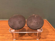 Antique Pair Of Horse Harness Brass 2 Rosettes Bits