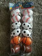 Happy Easter Sports Shaped Plastic Fillable Eggs Large 2 Pk Total Of 12 Eggs