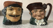 Set Of 2 Toby Royal Doulton Old Charley And Made In Occupied Japan Cup Mugs Vtg.