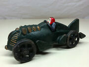 Collectible Cool Cast Iron Race Racing Car With Driver Toy