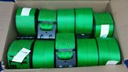 10 Mytee 4 X 30and039 Flat Hook Winch Straps Flatbed Truck Trailer Tie Down Green