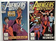 West Coast Avengers 56 And 57 1st Cover Dark Scarlet Witch Wanda High Grade
