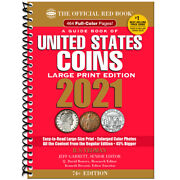 2021 Large Print Red Book Of Us Coins Soft Cover Redbook In Stock And Shipping