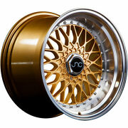 4 - 16x8 Gold Wheel Jnc Jnc004 4x100 4x4.5 25
