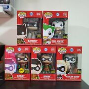 Funko Pop Dc Heroes - Imperial Palace Metallic Set With Chase Very Rare