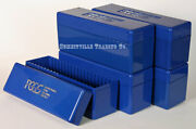 Lot Of 5 Pcgs Original Blue Storage Boxes - Each Holds 20 Graded Slabbed Coins