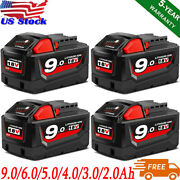 M18 For Milwaukee 9.0ah Li-ion Xc Extended Capacity Battery 48-11-1860 Charger