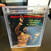 Wilt Chamberlain Signed 1962 Lakers Champs Sports Illustrated Cover Beckett Bgs