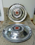 Pair Vintage Packard And03951-and03954 15 Hubcaps Fits Multiple Models