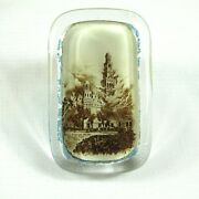 1893 Chicago Worlds Fair Paperweight Columbian Expo Cold Storage House Fire Rare