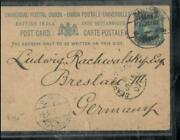 Burma Cover Pp0302b India Used In Forerunner Qv 1a Psc Rangoon To Germany 1907