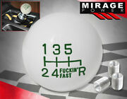 For Honda Mt Engine Stick Shift Solid Round Ball Shift Knob Set Fand039ing Fast Green