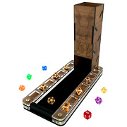 C4labs Deluxe Walnut Dice Tray And Walnut Cthulhu Dice Tower - Options