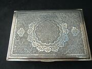 Large Museum Antique Islamic Qajar Indo-persian Silver Box Marked