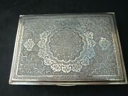 Large Museum Antique Islamic Qajar Indo-persian Silver Box, Marked