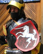 Medieval German Gothic Rider Style Half Body Suit Of Armor Combat Fighting Armor