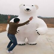 New 2.8m Polar Bear Inflatable Mascot Costume Suits Cosplay Party Game Dress