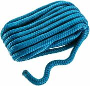 Double Braid Dock Line 1/2 X 25ft Blue 15 Eye Splice Cordage Pair 2