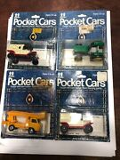 Pocket Cars Tomy Tomica Vintage Diecast Toys Lot 4 Lift Truck Tractor Ford Van