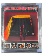 Framed And Led Lit Bloodsport Shorts Signed By Jcvd And Bolo Yeung 100 + Coa