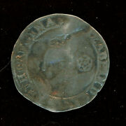 1578 Elizabeth I - Ar Sixpence Hammered Coin