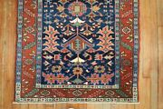 Antique Navy Karajeh Rug 3and039x4and0396and039and039