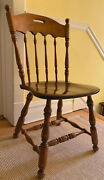 Ethan Allen Heirloom Nutmeg Solid Maple Accent/ Dining / Desk Chair, 10-6002