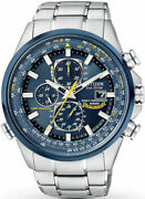 Citizen Menand039s At8020-54l Blue Angels Stainless Steel Eco-drive Dress Watch