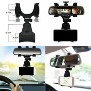 Car Rearview Mirror Mount Stand Holder Cradle Accessories For Gps Cell Phone
